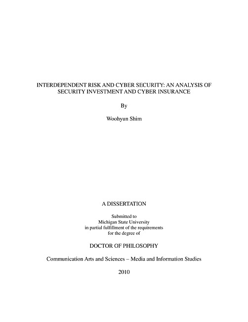 cyber security dissertation