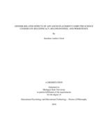 Gender-related effects of advanced placement computer science courses on self-efficacy, belongingness, and persistence