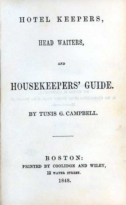 Hotel keepers, head waiters, and housekeepers' guide