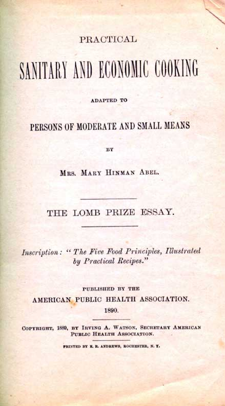 Practical sanitary and economic cooking adapted to persons of moderate and small means