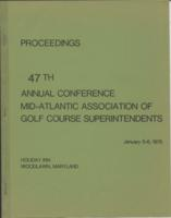 Proceedings of the Mid-Atlantic Turf Conference