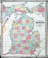 Township map of Michigan from the latest authorities
