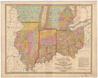 Map of the states of Ohio Indiana & Illinois and part of Michigan territory