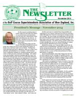 The Newsletter of the Golf Course Superintendents Association of New England, Inc.