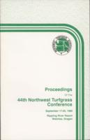 Proceedings of the Northwest Turfgrass Conference