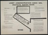 Laney administration bans SDS, protects racist book