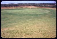The 1st Hole green, with surrounds, at the Sankaty Head Golf Club, Nantucket Island, Massachusetts, 1953, with flag stick in hole