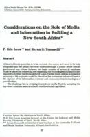 Considerations on the role of media and information in building a new South Africa