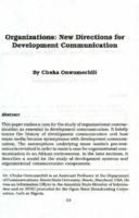 Organizations : new directions for development communication