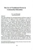 The use of traditional forms in community education