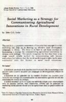 Social marketing as a strategy for communicating agricultural innovations in rural development