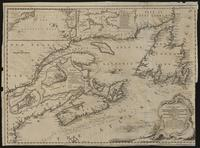 A new chart of the coast of New England, Nova Scotia, New France or Canada : with the islands of Newfoundld., Cape Breton, St. John's & c