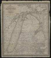 The tourist's pocket map of Michigan : exhibiting its internal improvements, roads, distances, &c