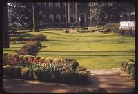 A lawn and ornamental gardens at the Biltmore Hotel in Atlanta, 1955