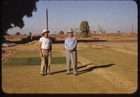 Art and Carl Snyder on a bermudagrass nursery, Phoenix, 1954